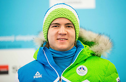 Maks Hribar during presentation of Slovenian Young Athletes before departure to EYOF (European Youth Olympic Festival) in Vorarlberg and Liechtenstein, on January 21, 2015 in Bled, Slovenia. Photo by Vid Ponikvar / Sportida