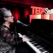 Tall Order TEDx Seattle 2018. Mary Lydia Ryan (musician). Photo by Alabastro Photography.