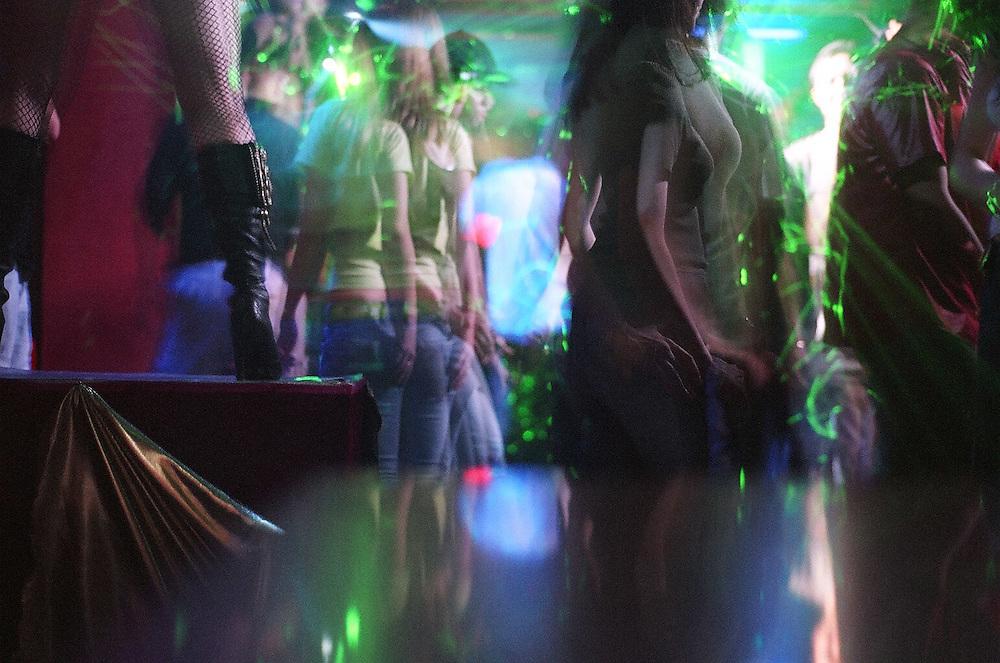 In a trendy night-club in Tashkent