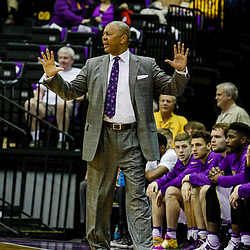 Feb 1, 2017; Baton Rouge, LA, USA; LSU Tigers head coach Johnny Jones against the South Carolina Gamecocks during the first half of a game at the Pete Maravich Assembly Center. Mandatory Credit: Derick E. Hingle-USA TODAY Sports
