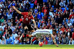 Mehmet Topal of Turkey fouls Jamie Vardy of England for the penalty - Mandatory byline: Matt McNulty/JMP - 07966386802 - 22/05/2016 - FOOTBALL - Etihad Stadium -Manchester,England - England v Turkey - International Friendly