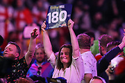 Darts fan during the PDC William Hill World Darts Championship at Alexandra Palace, London, United Kingdom on 15 December 2019.