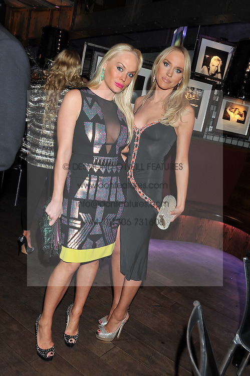 Left to right, KATHRINE FREDRIKSEN and CECILIE FREDRIKSEN at the Wild for WSPA dinner in aid of the charity World Society for the Protection of Animals held at Under The Bridge, Stamford Bridge, Fulham Road, London on 23rd February 2012.