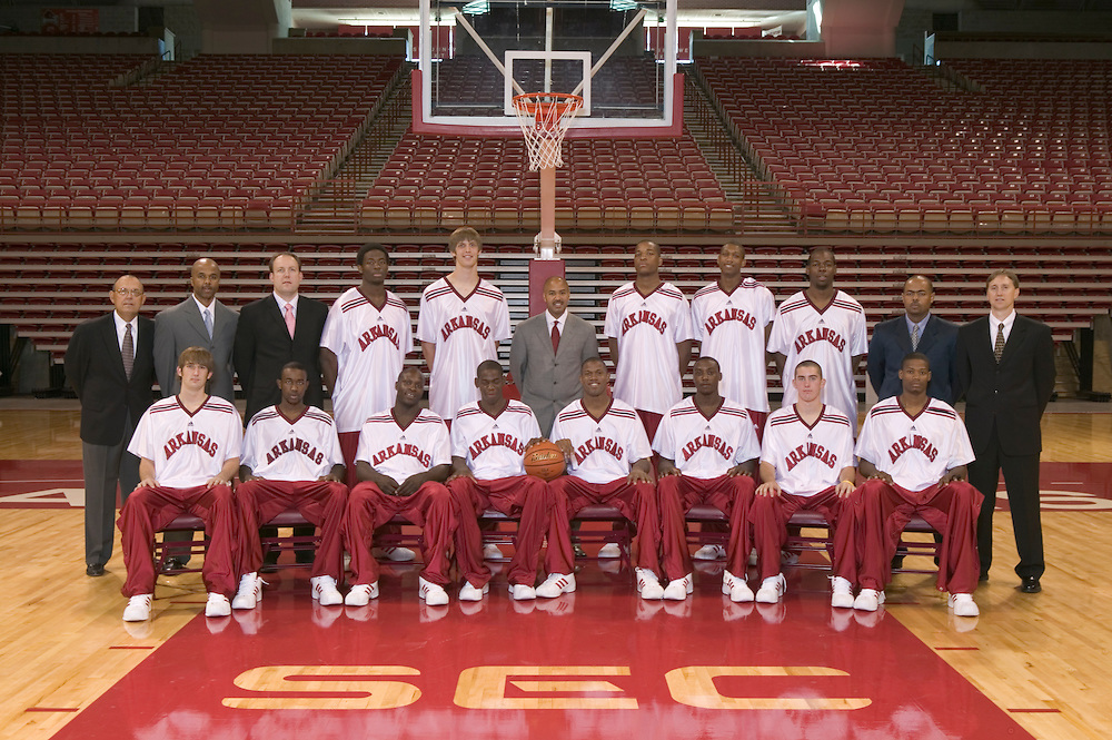 Arkansas Razorback basketball team during the 2004 and 2005 season at Bud Walton Arena in Fayetteville with Ronnie Brewer