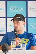 Peter Kerr (AUS). Pre Race Press Conference. 2013 Noosa Triathlon Festival. Cairns, Queensland, Australia. 01/11/2013. Photo By Lucas Wroe