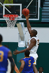 Nov 16, 2011; San Francisco CA, USA;  San Francisco Dons forward Perris Blackwell (22) shoots against the San Jose State Spartans during the second half at War Memorial Gym.  San Francisco defeated San Jose State 83-81 in overtime. Mandatory Credit: Jason O. Watson-US PRESSWIRE