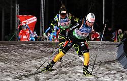 04.01.2012, DKB-Ski-ARENA, Oberhof, GER, E.ON IBU Weltcup Biathlon 2012, Staffel Frauen, im Bild Andea Henkel (GER) vor Marie Dorin Habert (FRA) .// during relay Ladies of E.ON IBU World Cup Biathlon, Thüringen, Germany on 2012/01/04. EXPA Pictures © 2012, PhotoCredit: EXPA/ nph/ Hessland..***** ATTENTION - OUT OF GER, CRO *****