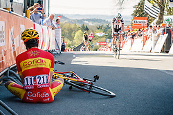 HERRADA Jesús of Cofidis, Solutions Crédits after the 2018 La Flèche Wallonne race, Huy, Belgium, 18 April 2018, Photo by Thomas van Bracht / PelotonPhotos.com | All photos usage must carry mandatory copyright credit (Peloton Photos | Thomas van Bracht)