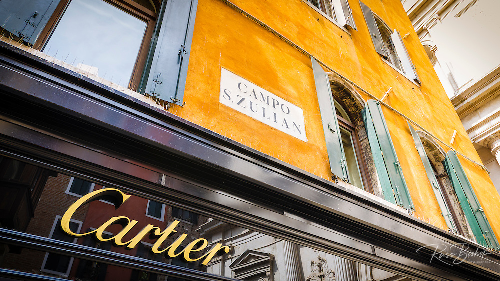 The Cartier store, Venice, Veneto, Italy