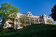 Stock photography of the historic Crescent Hotel in Eureka Springs, Arkansas.
