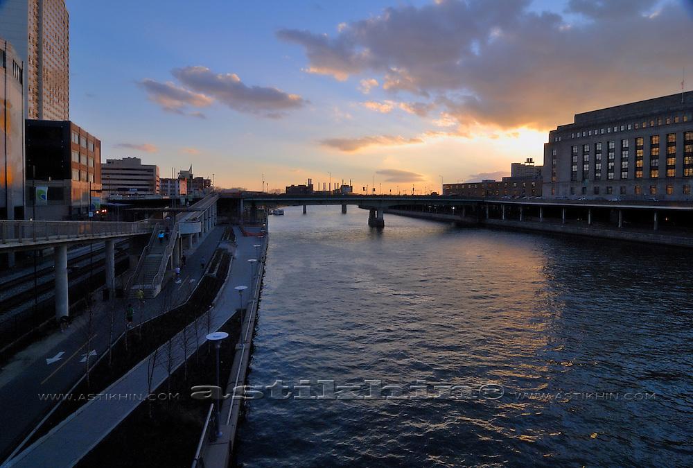 Sunset on Schuylkill River