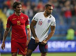 England's Callum Wilson with Montenegro's Stefan Savic
