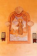 Wall painting, Mission San Antonio de Padua (3rd Mission-1771), Jolon, California