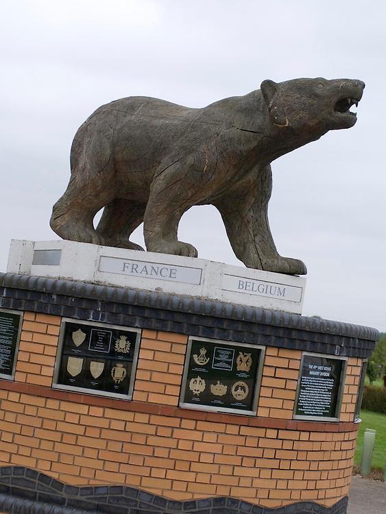 Polar Bear Memorial to the Army's 49th Divison, National Memorial Arboretum, Staffordshire, England, UK.