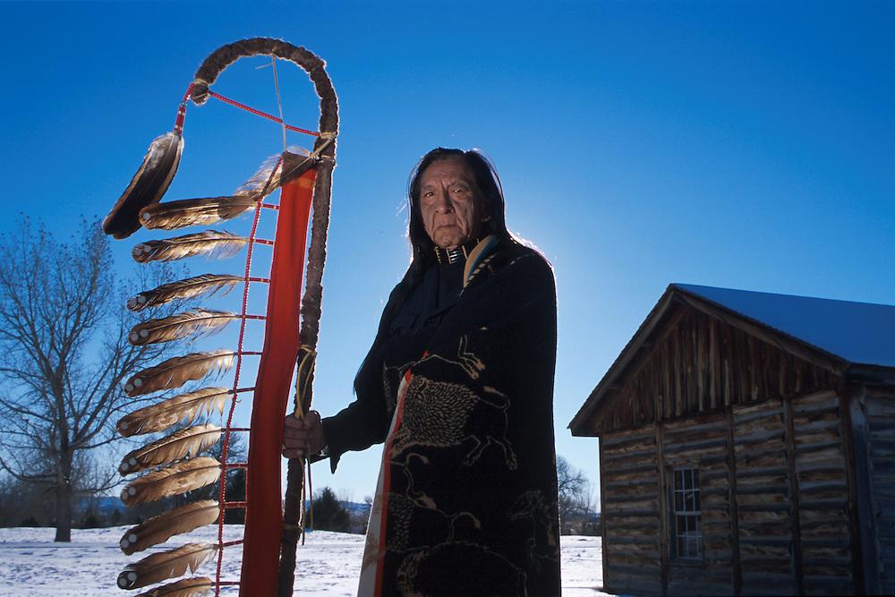 Lakota Elder Ron Hawks at Fort Robinson State Park, Nebraska , USA