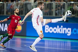 Solano of Spain during futsal match between Portugal and Spain in Final match of UEFA Futsal EURO 2018, on February 10, 2018 in Arena Stozice, Ljubljana, Slovenia. Photo by Urban Urbanc / Sportida