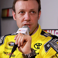 Driver Matt Kenseth speaks with the media during the NASCAR Media Day event at Daytona International Speedway on Thursday, February 14, 2013 in Daytona Beach, Florida.  (AP Photo/Alex Menendez)