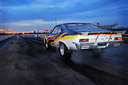Drag racing at sunset at Thunder Valley Raceway in Noble, OK