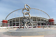 The Khalifa Stadium in Doha, the venue for the opening match in the Asian Cup 2011 football tournament held in Doha, Qatar