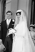 23/05/1964<br /> 05/23/1964<br /> 23 May 1964<br /> Tierney - Roche wedding. Mr Daniel Tierney of Green Trees Road, Terenure, Dublin and Miss Maura Roche of Cross Avenue, Booterstown, Co. Dublin after their wedding at the Church of the Assumption, Booterstown Co. Dublin.