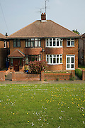 Inter war semi-detached housing built in the 1930s, off Colchester Road, Ipswich, Suffolk, England