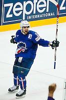 Joie Damien Fleury - 05.05.2015 - Autriche / France  - Championnats du Monde de Hockey sur Glace 2015 -Prague<br />Photo : Xavier Laine / Icon Sport *** Local Caption ***