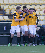 East Fife&rsquo;s Nathan Austin is congraulated after scoring his side's opening goal  - East Fife v Arbroath, SPFL League Two at New Bayview<br /> <br />  - &copy; David Young - www.davidyoungphoto.co.uk - email: davidyoungphoto@gmail.com