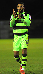 Daniel Wishart of Forest Green Rovers thanks fans at the final whistle - Mandatory by-line: Nizaam Jones/JMP- 06/01/2018 - FOOTBALL - New Lawn Stadium- Nailsworth, England- Forest Green Rovers v Port Vale - Sky Bet League Two