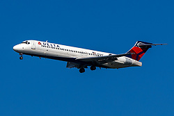 Boeing 717-200 (N948AT) operated by Delta Air Lines on approach to San Francisco International Airport (KSFO), San Francisco, California, United States of America
