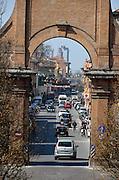 Old city gate, Corsa Della Giovecca, Ferrara, Italy.