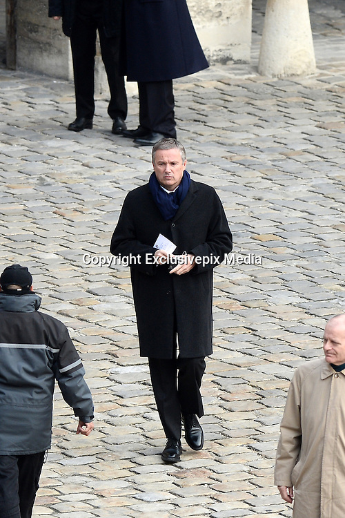 TRIBUTE TO THE VICTIMS OF 13 November 2015 in PARIS<br /> Nicolas Dupont-Aignan<br /> ©Exclusivepix Media