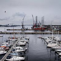 Nederland, Amsterdam , 4 november 2014.<br /> De Melissa pier in Amsterdam Noord met op de voorgrond Amsterdam Marina haven en op de achtergrond Shipdock BV Amsterdam.<br /> Foto:Jean-Pierre Jans
