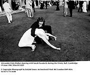 Alexander Fyjis-Walker dancing with Sarah Fazakerly during the Trinity Ball. Cambridge. 15 June 1981. Film 8133f25<br />&copy; Copyright Photograph by Dafydd Jones<br />66 Stockwell Park Rd. London SW9 0DA<br />Tel 0171 733 0108