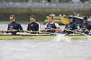 Putney, GREAT BRITAIN, OUBC crew, right, Aaron MARCOVY, 5. Micheal WHERLEY, 6. Oliver MOORE, 7. Charles COLE,  Str. William ENGLAND  Pre Boat Race fixture, Oxford University BC vs USA [Select]  M8+.  08/03/2008. [Mandatory Credit, Peter Spurrier/Intersport-images]. Varsity Boat Race, Rowing Course: River Thames, Championship course, Putney to Mortlake 4.25 Miles,