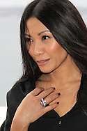 CANNES, FRANCE - JANUARY 29:  Anggun attends Photocall during Midem at the Palais des Festivals on January 29, 2012 in Cannes, France.  (Photo by Tony Barson Archive/Getty Images)