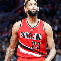 12 December 2016: Portland Trail Blazers guard Allen Crabbe (23) is seen during the LA Clippers 121-120 victory over the Portland Trail Blazers, at the Staples Center, Los Angeles, California, USA.