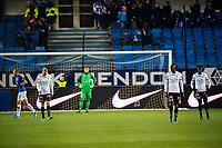 Fotball , 10 November 2019 , Eliteserien , Molde - Strømsgodset , Jakob Glesnes, Duplexe Tchamba Bangou og Ipalibo Jack depper etter 2-0<br /> <br /> <br /> , Foto: Marius Simensen, Digitalsport