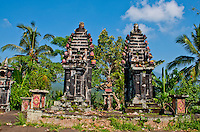 Old hindu temple on the slopes of Mt Agung, Bali, Indonesia