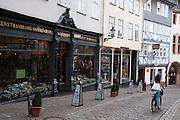 Buchhandlung, Oberstadt, Altstadt, Marburg, Hessen, Deutschland | book shop, Bafuesserstrasse, St. George statue, old town, Marburg, Hesse, Germany