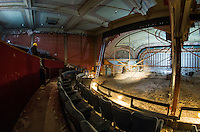 Renovation work done by Bonnette, Page and Stone at the Colonial Theater in downtown Laconia. Upper Balcony stage area.   ©2016 Karen Bobotas Photographer
