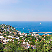vista panoramica di capri e marina grande, panoramic view of Capri and Marina Grande