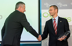 Joze Slivsek of NK Krsko and Aleksander Ceferin of NZS during NZS Draw for season 2015/16 on June 23, 2015 in Brdo pri Kranju, Slovenia. Photo by Vid Ponikvar / Sportida
