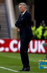 Sunderland manager David Moyes cuts a frustrated figure - Mandatory by-line: Robbie Stephenson/JMP - 26/04/2017 - FOOTBALL - Riverside Stadium - Middlesbrough, England - Middlesbrough v Sunderland - Premier League