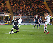 James McPake fires in a shot - Dundee v Celtic - SPFL Premiership at Dens Park<br /> <br /> <br />  - &copy; David Young - www.davidyoungphoto.co.uk - email: davidyoungphoto@gmail.com