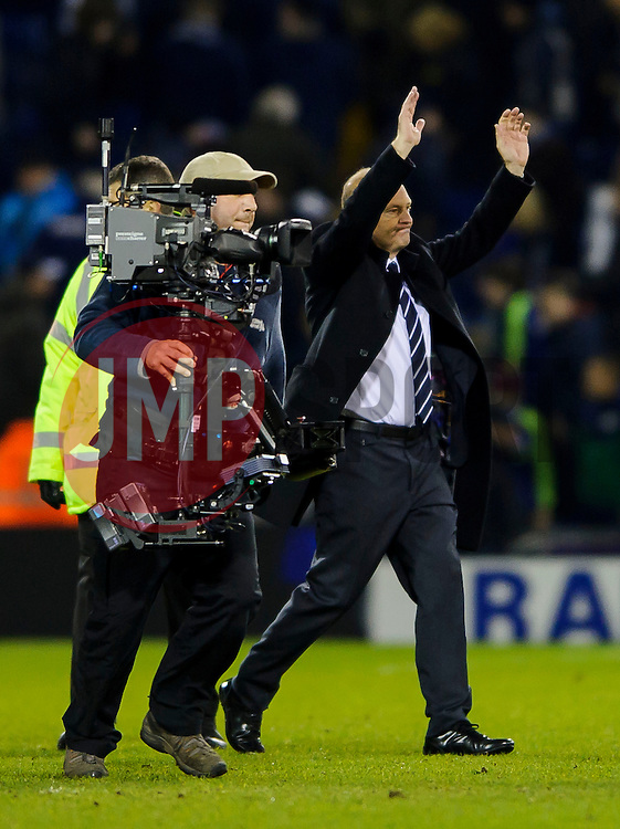 New West Brom Manager Pepe Mel is followed off by TV cameras as the game ends in a 1-1 draw - Photo mandatory by-line: Rogan Thomson/JMP - Tel: Mobile: 07966 386802 - 20/01/2014 - SPORT - FOOTBALL - The Hawthorns Stadium - West Bromwich Albion v Everton - Barclays Premier League.