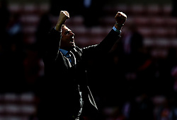 Swansea City manager Paul Clement celebrates his side's win over Sunderland - Mandatory by-line: Robbie Stephenson/JMP - 13/05/2017 - FOOTBALL - Stadium of Light - Sunderland, England - Sunderland v Swansea City - Premier League