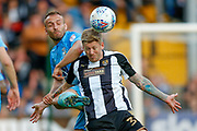 Coventry City defender Liam Kelly (6) and Notts County forward Jonathan Stead (30) challenge for the ball during the EFL Sky Bet League 2 match between Notts County and Coventry City at Meadow Lane, Nottingham, England on 18 May 2018. Picture by Simon Davies.