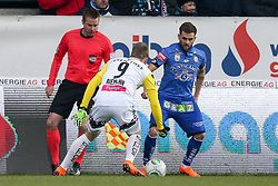 03.03.2018, TGW Arena, Pasching, AUT, 1. FBL, LASK Linz vs SK Puntigamer Sturm Graz, 25. Runde, im Bild v.l. Alexander Riemann (LASK Linz), Philipp Huspek (SK Puntigamer Sturm Graz) // during the Austrian Football Bundesliga 25th Round match between LASK Linz und SK Puntigamer Sturm Graz at the TGW Arena in Pasching, Austria on 2018/03/03. EXPA Pictures © 2018, PhotoCredit: EXPA/ Roland Hackl