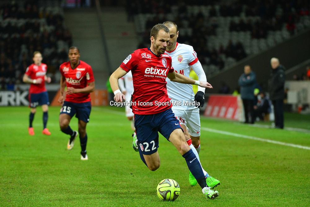 David ROZEHNAL / Dimitar BERBATOV  - 24.01.2015 - Lille / Monaco - 22eme journee de Ligue1<br />Photo : Dave Winter / Icon Sport