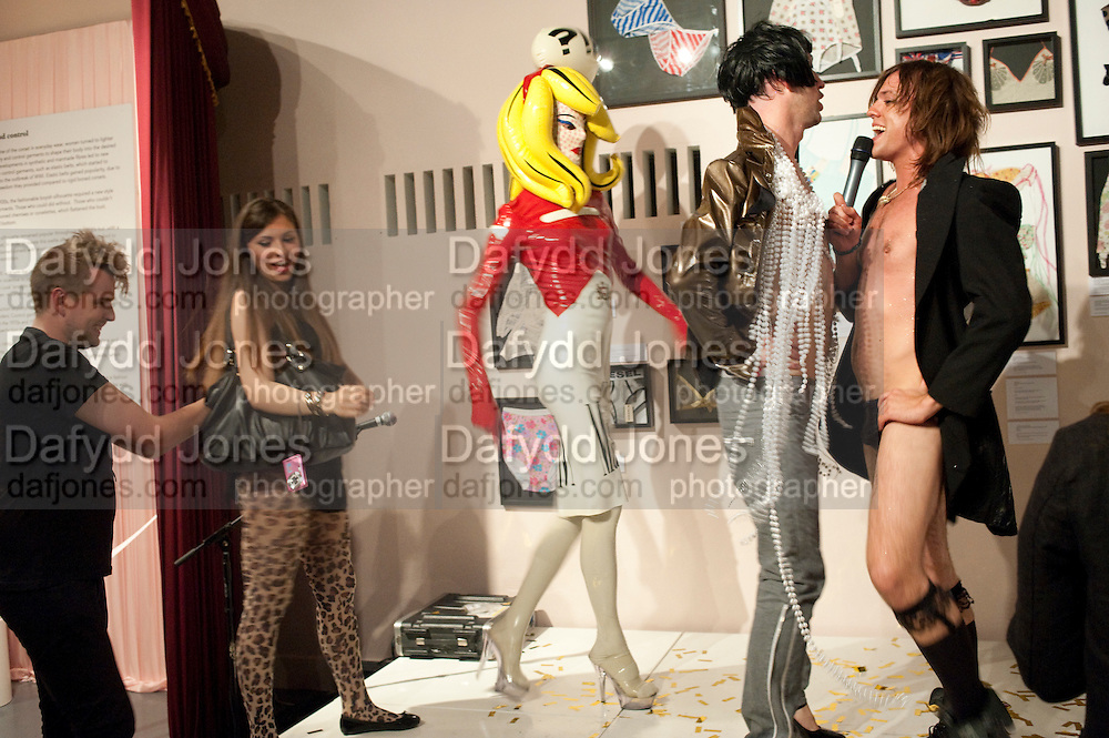 HOUSE OF BLUEEYES ? show  in the Undercover exhibition. Fashion and Textile Museum, Bermondsey Street<br /> London. 25 July 2009<br /> HOUSE OF BLUEEYES Ð show  in the Undercover exhibition. Fashion and Textile Museum, Bermondsey Street<br /> London. 25 July 2009